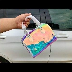 Louis Vuitton mini speedy prism bag